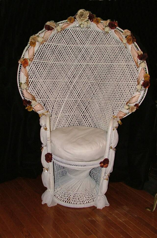 baby shower wicker chair for sale designed and decorated high back