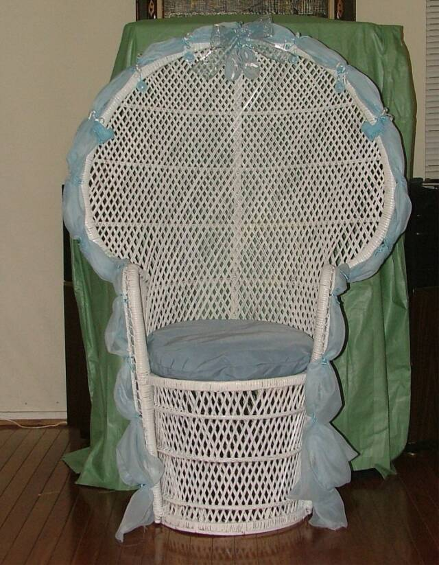 001 002 003 004 005 006. Custom Designed And Decorated High Back Wicker ...